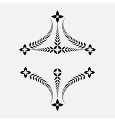 Laurel wreath tattoo decorative ornament victory vector