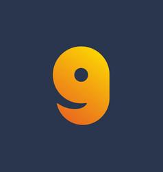 Letter g number 9 smile logo icon design template vector