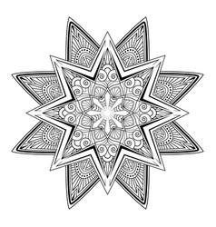 mandala tattoo vintage decorative elements vector image