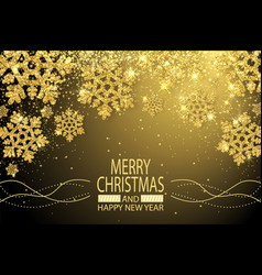 merry christmas happy new year congratulation card vector image