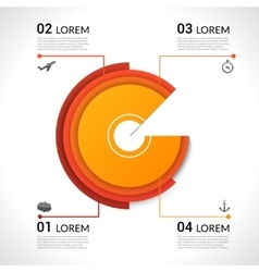 Modern infographics pie chart for web banners vector