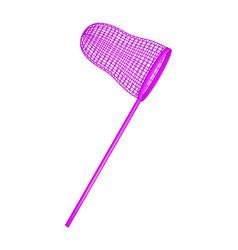 net in purple design vector image