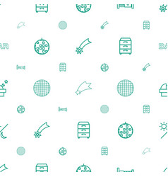 Night icons pattern seamless white background vector