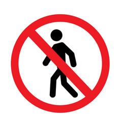 No tresspass sign vector