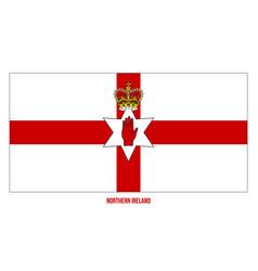 Northern ireland flag on white background vector