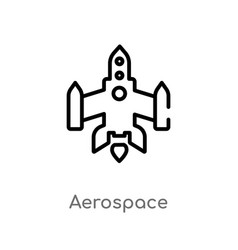 Outline aerospace icon isolated black simple line vector