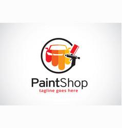 Paint shop logo template design vector