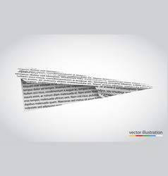 paper airplane isolated on white backgroun vector image