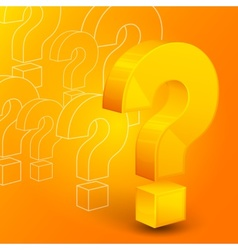 Question mark on yellow vector image