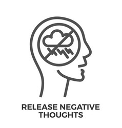 Release negative thoughts vector