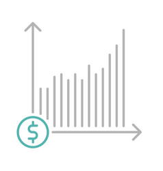 Return on investment icon vector