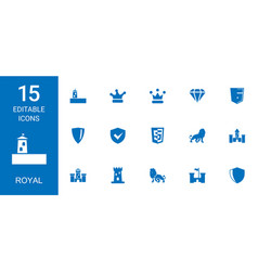 Royal icons vector