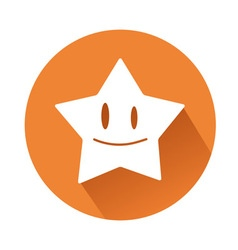 Smiling star vector