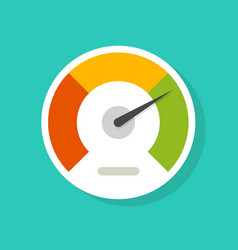 Speedometer gauge dial icon isolated vector