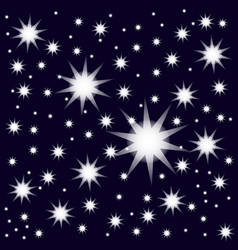 stars on the sky icons vector image