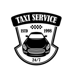 taxi service emblem design element for logo label vector image