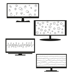Tv sets silhouette for your design vector image