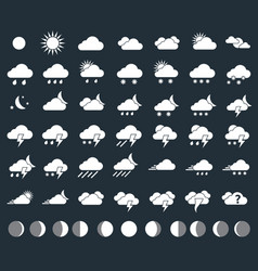 Weather icons closeup vector