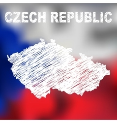 Czech Abstract Map vector image