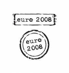 Euro 2008 stamp vector image vector image