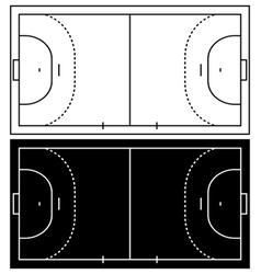 Handball court vector image