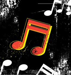 music grunge design vector image vector image