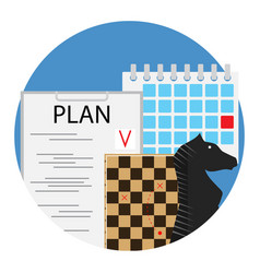 planning of strategy and tactics vector image vector image