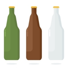 set of color beer bottle vector image