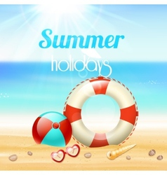Summer holiday vacation travel background vector