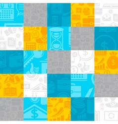 Abstract background of the business icons vector image