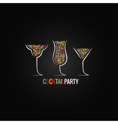 cocktail party design background vector image