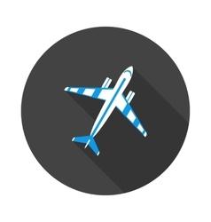 flat icon aircraft vector image