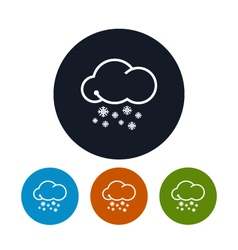 Icon snowfall vector