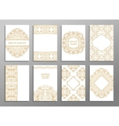 Set of flyer pages ornamental vector image vector image