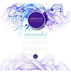 Watercolor wave background vector image vector image