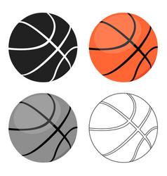 basketball icon cartoon single sport icon from vector image vector image