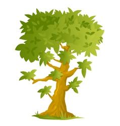 Big Cartoon Tree vector image vector image