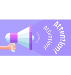Cartoon megaphone holding in the hand Promotion vector image