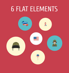 Flat icons american banner decoration awareness vector