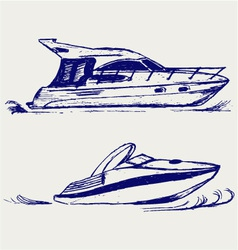Luxury yacht vector image vector image