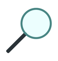 Magnifying glass flat loupe icon vector image