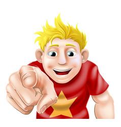 man pointing at viewer vector image vector image