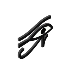 Eye of Horus icon isometric 3d style vector image vector image