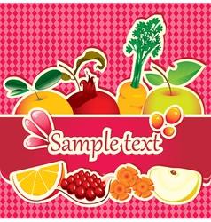 fruit drop vector image vector image