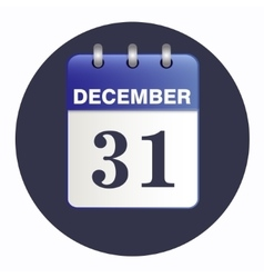 New-year sheet Desk calendar blue color vector image