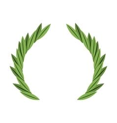 wreath crown frame icon vector image vector image