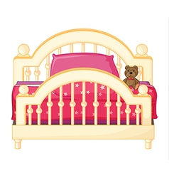 A bed of a child vector image