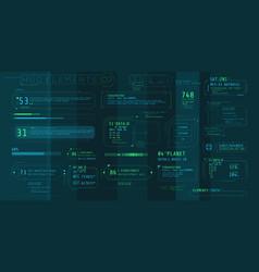 A set hud text elements for a futuristic vector