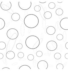 abstract circle seamless pattern sketch vector image