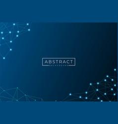 abstract futuristic dark blue polygonal molecules vector image